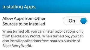 Allow Showbox app on blackberry